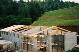 Tetto in costruzione per capannone agricolo
